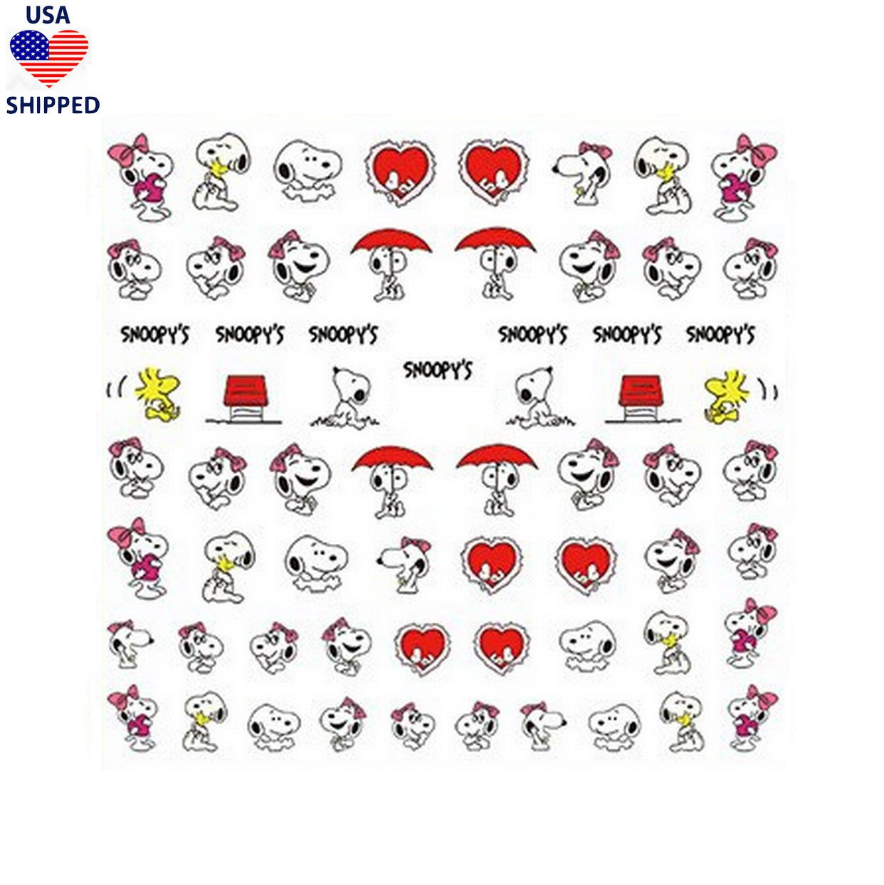 (USA) Cartoons CB Love Nail Stickers
