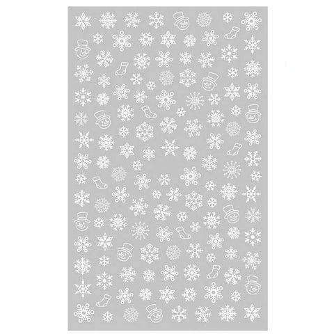 Christmas Snowflakes White Nail Stickers