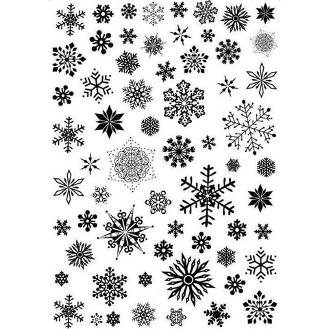 Christmas Larger Snowflakes Nail Stickers