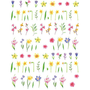 Floral Spring Flowers Nail Stickers