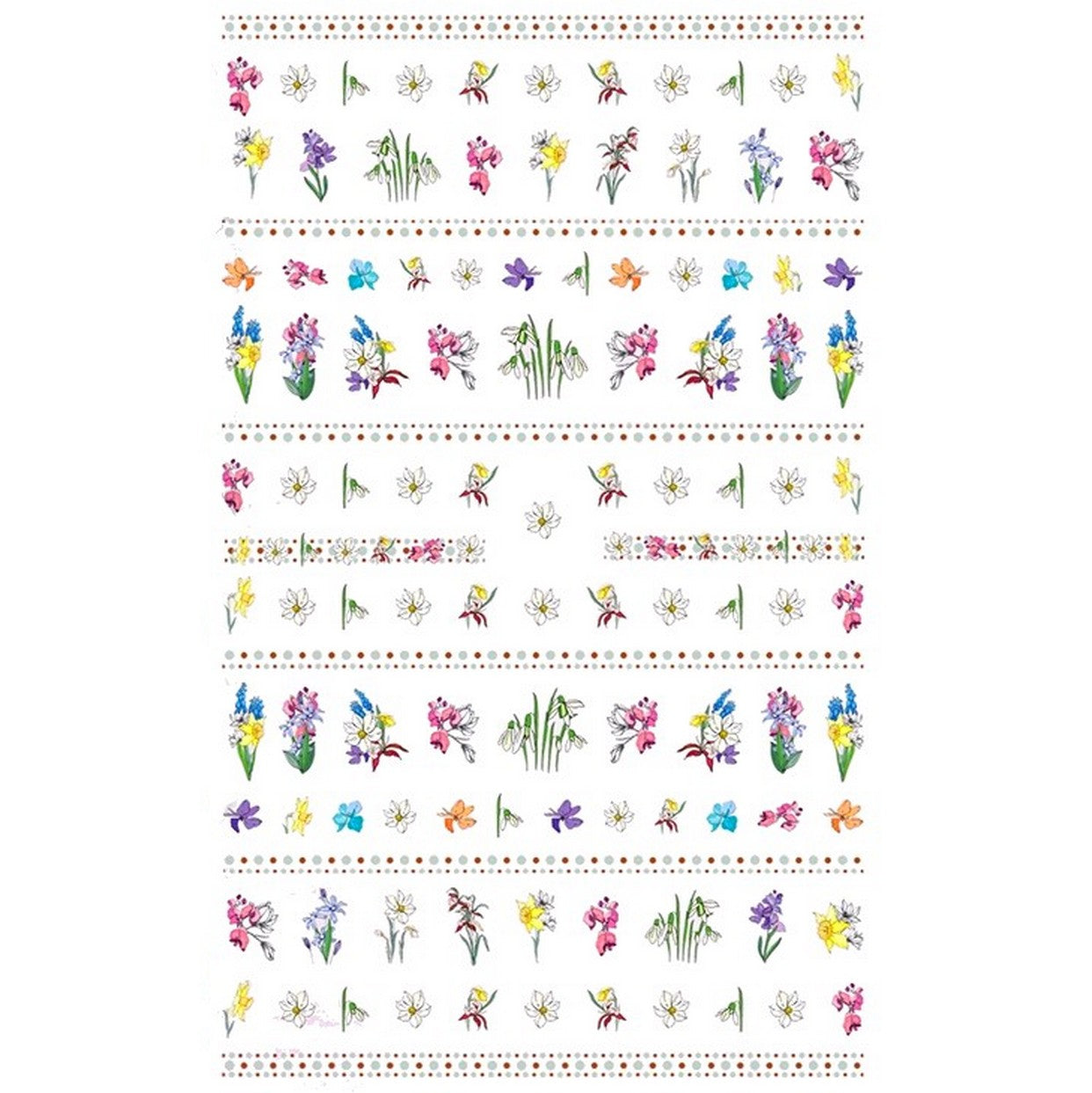 Floral Spring Blooms Nail Stickers