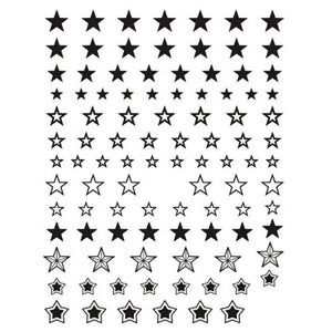 Galaxy Stars Black Nail Stickers