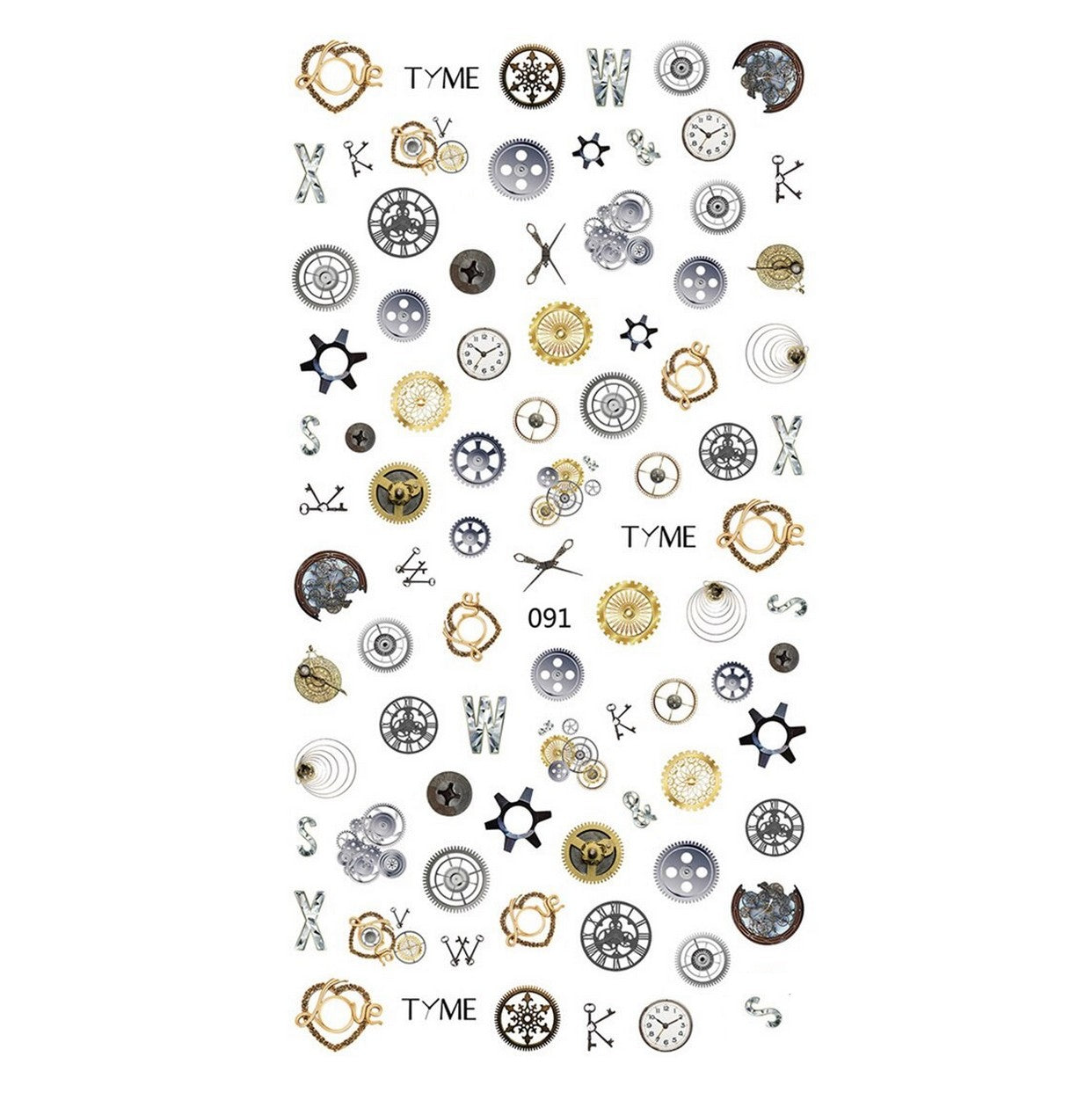Festival Steampunk Love Nail Stickers