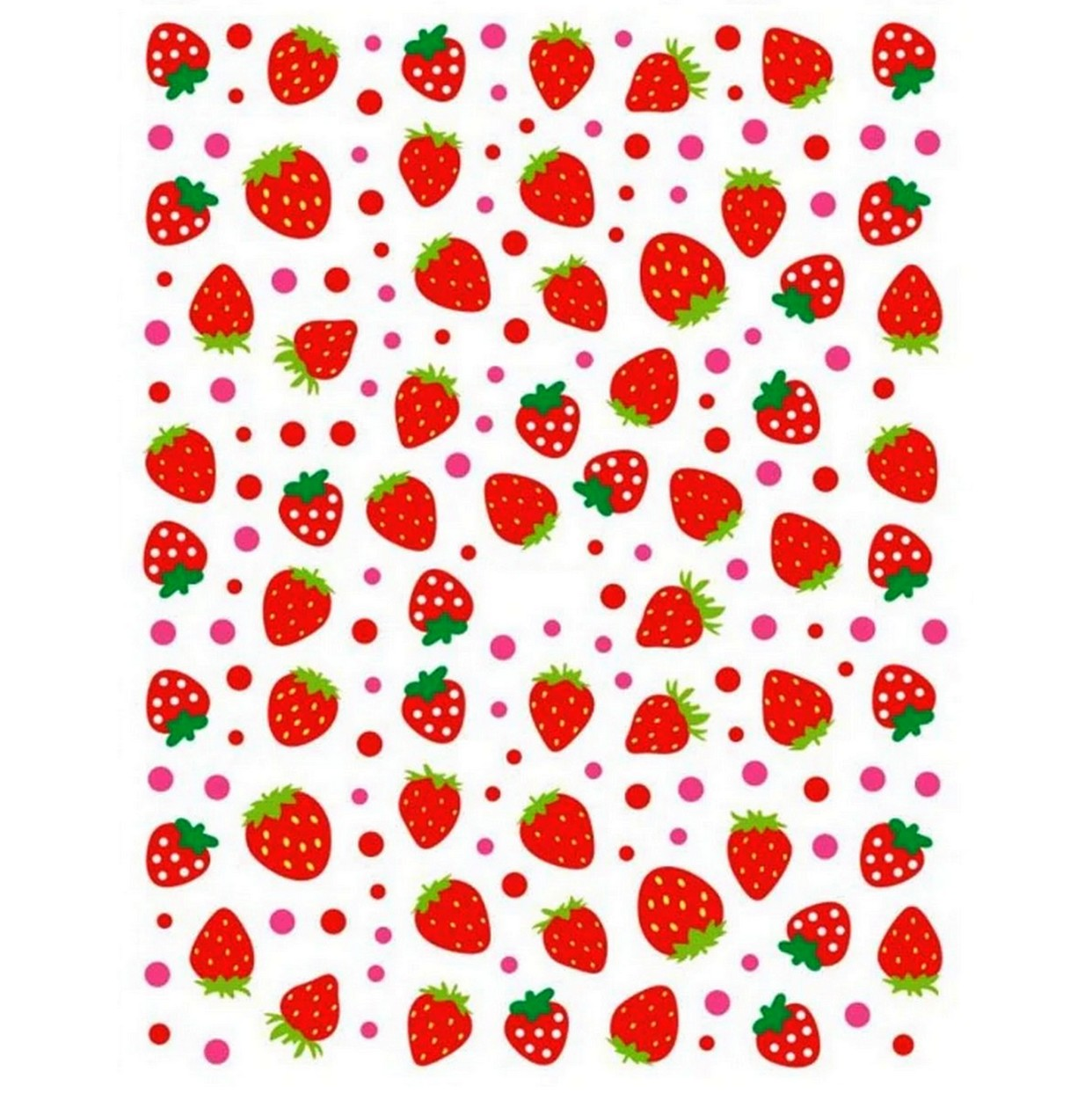Drinks/Food Strawberries Nail Stickers
