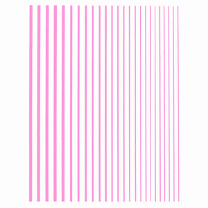 Stripes Pink Nail Stickers