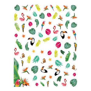 Summer Tropical Jungle Nail Stickers