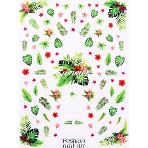 Plants Summer Tropical Leaves Nail Stickers
