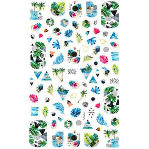 Summer Tropical Island Nail Stickers