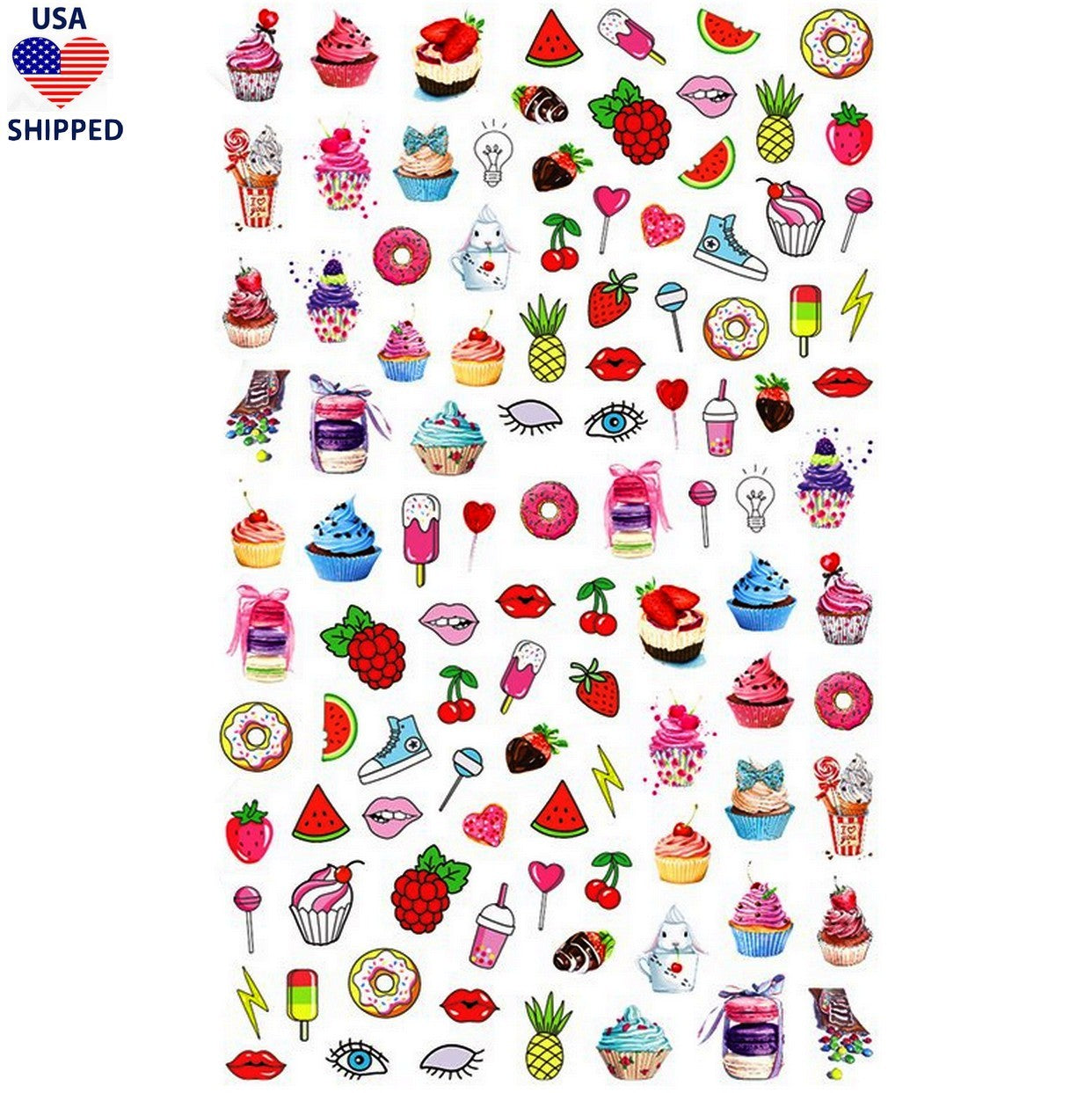 (USA) Food/Drinks Sweet Tooth Nail Stickers