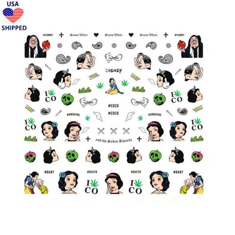 (USA) 4/20 SW Explicit Nail Stickers