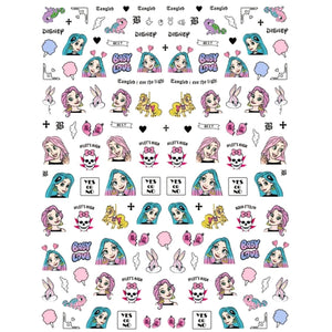 Cartoons Tang Explicit Nail Stickers