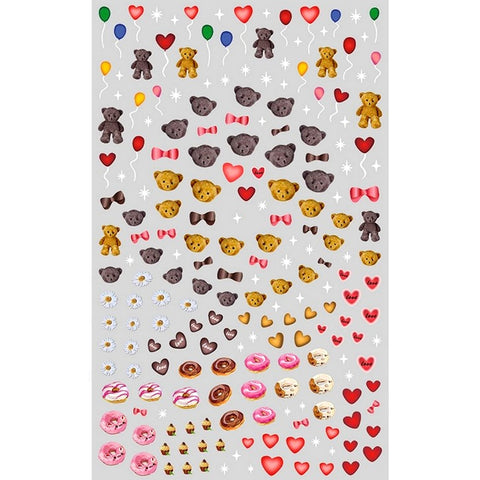 Love Teddies & Sweets Nail Stickers
