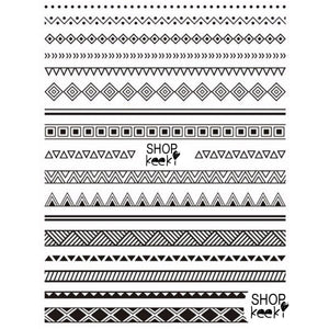 Pattern Tribal Black Stickers