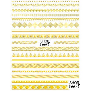 Pattern Tribal Gold Stickers