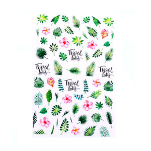 Plants Tropical Mix Nail Stickers