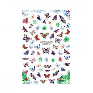 Butterflies Tropical Species Nail Stickers