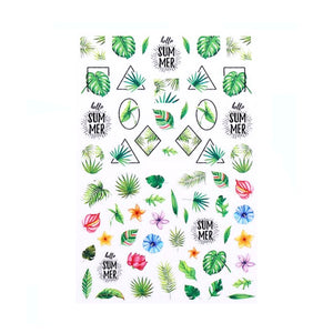 Plants Tropical Specimens Nail Stickers