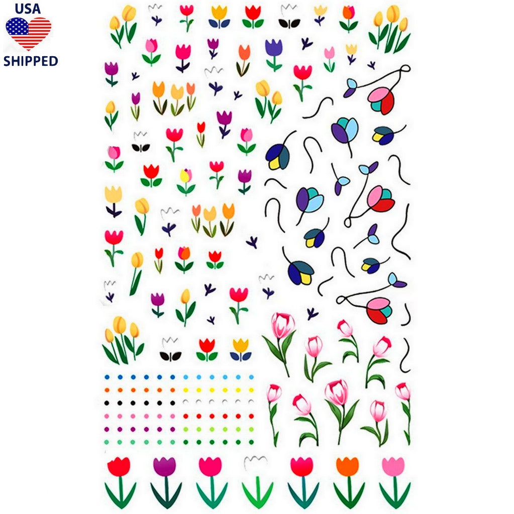 Tulips Nail Decals