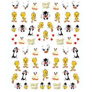Cartoons Tweety Nail Stickers
