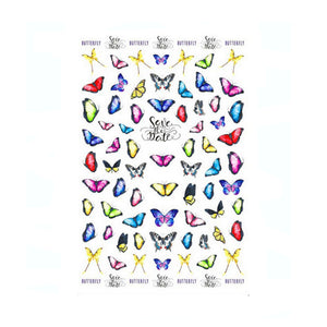 Butterflies Vibrant Nail Stickers