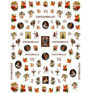 Angel Cherubs Renaissance Nail Stickers