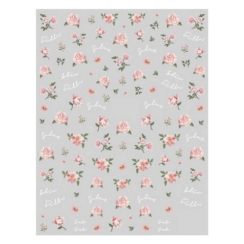 Flower Vintage Roses #1 Nail Stickers
