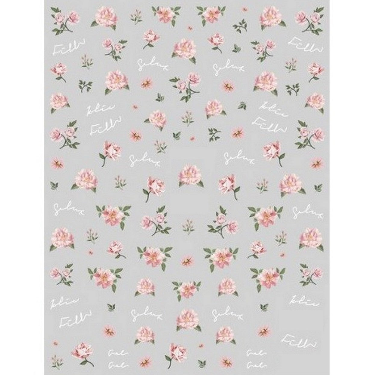 Floral Vintage Roses Nail Stickers