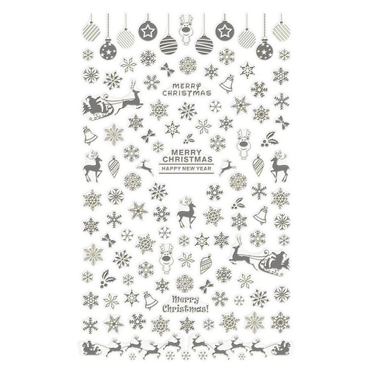 Christmas Silver Nail Stickers
