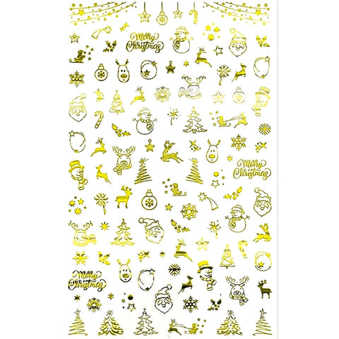 Christmas Mix Gold Nail Stickers