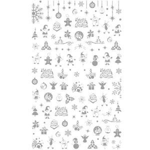 Christmas Magic Silver Nail Stickers