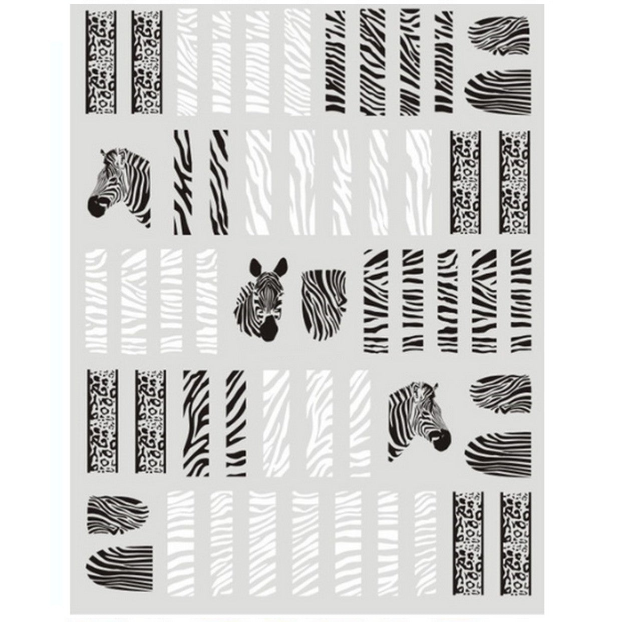 Animal Print Zebra Nail Stickers