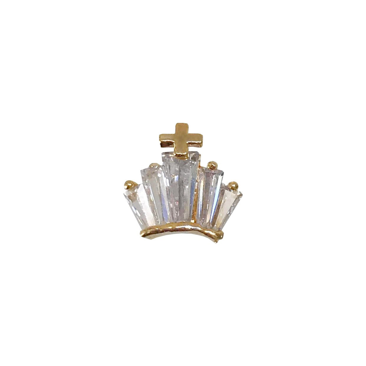 Gold Zircon Crystal Crown x1