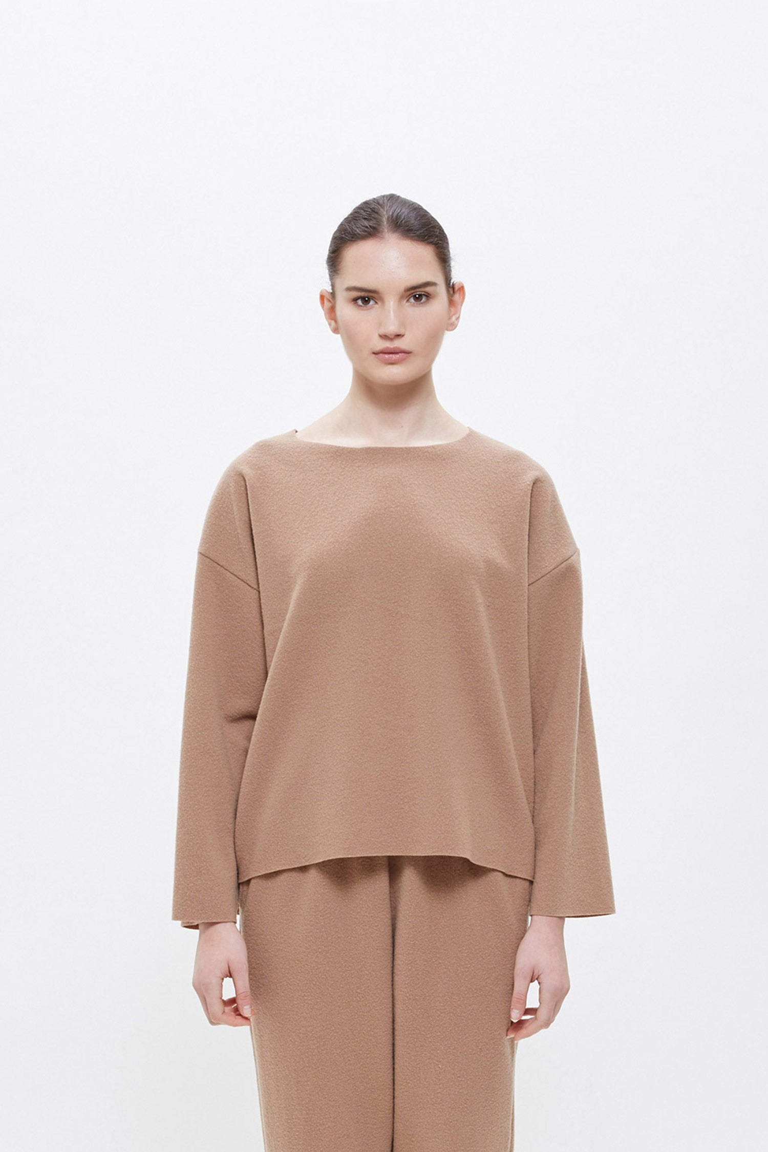 PULLOVER / WN-PO10 (WOOL NYLON) / CAMEL