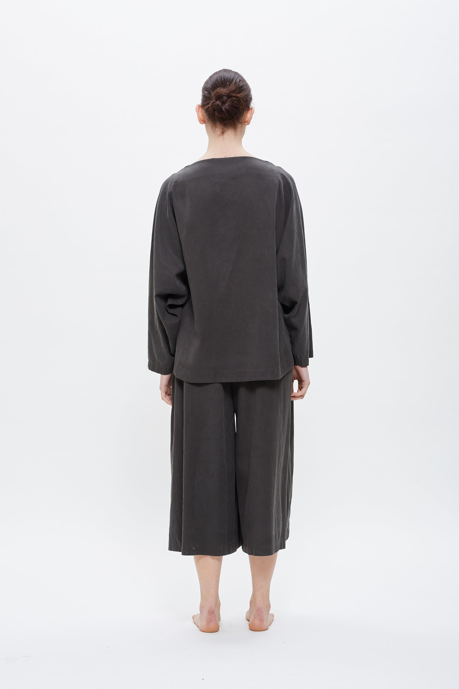 WIDE CULOTTES / TC-WC21 (COTTON TENCEL) / DK. GREY