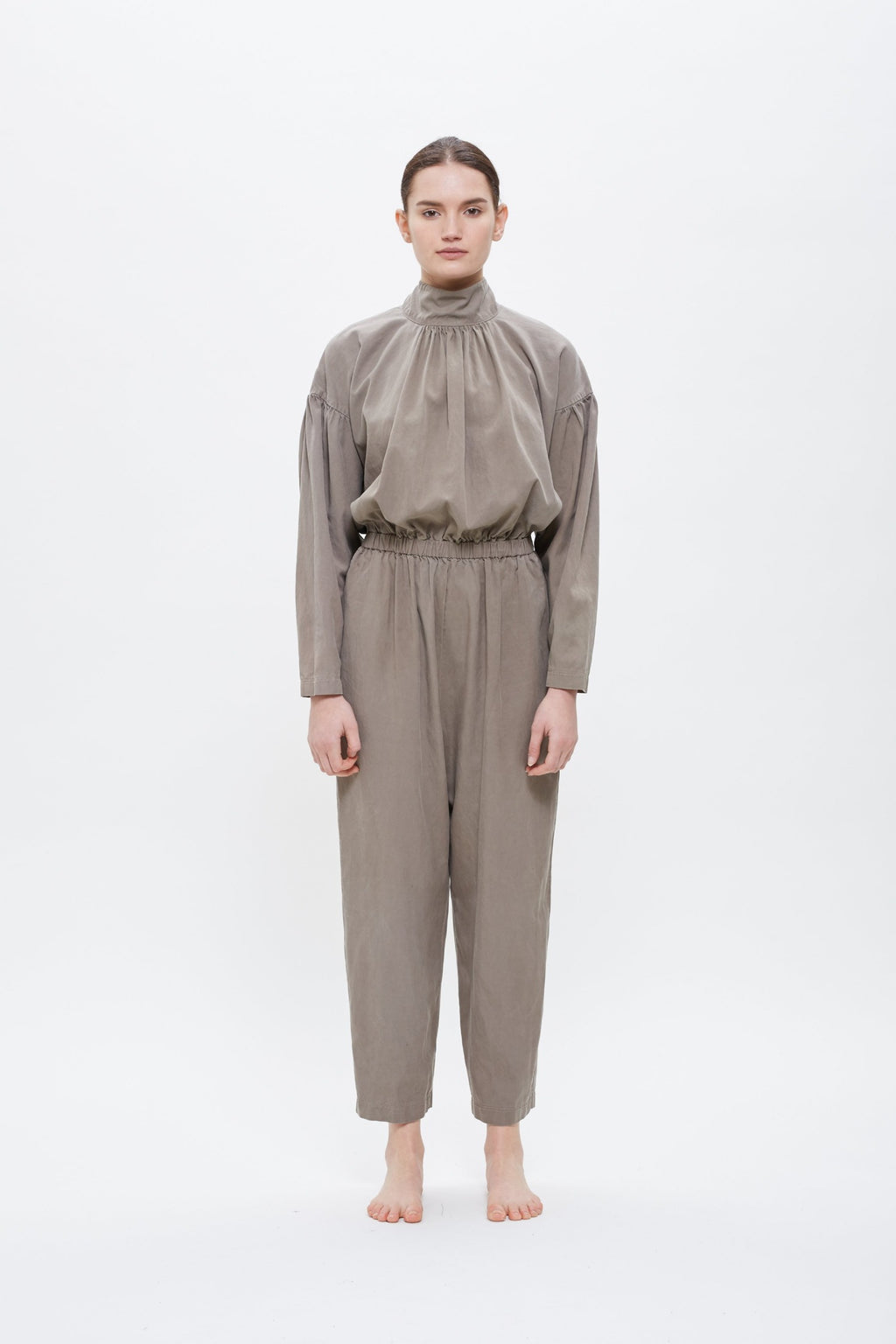 TULIP JUMPSUIT / TC-TJ17 (COTTON TENCEL) / ASH