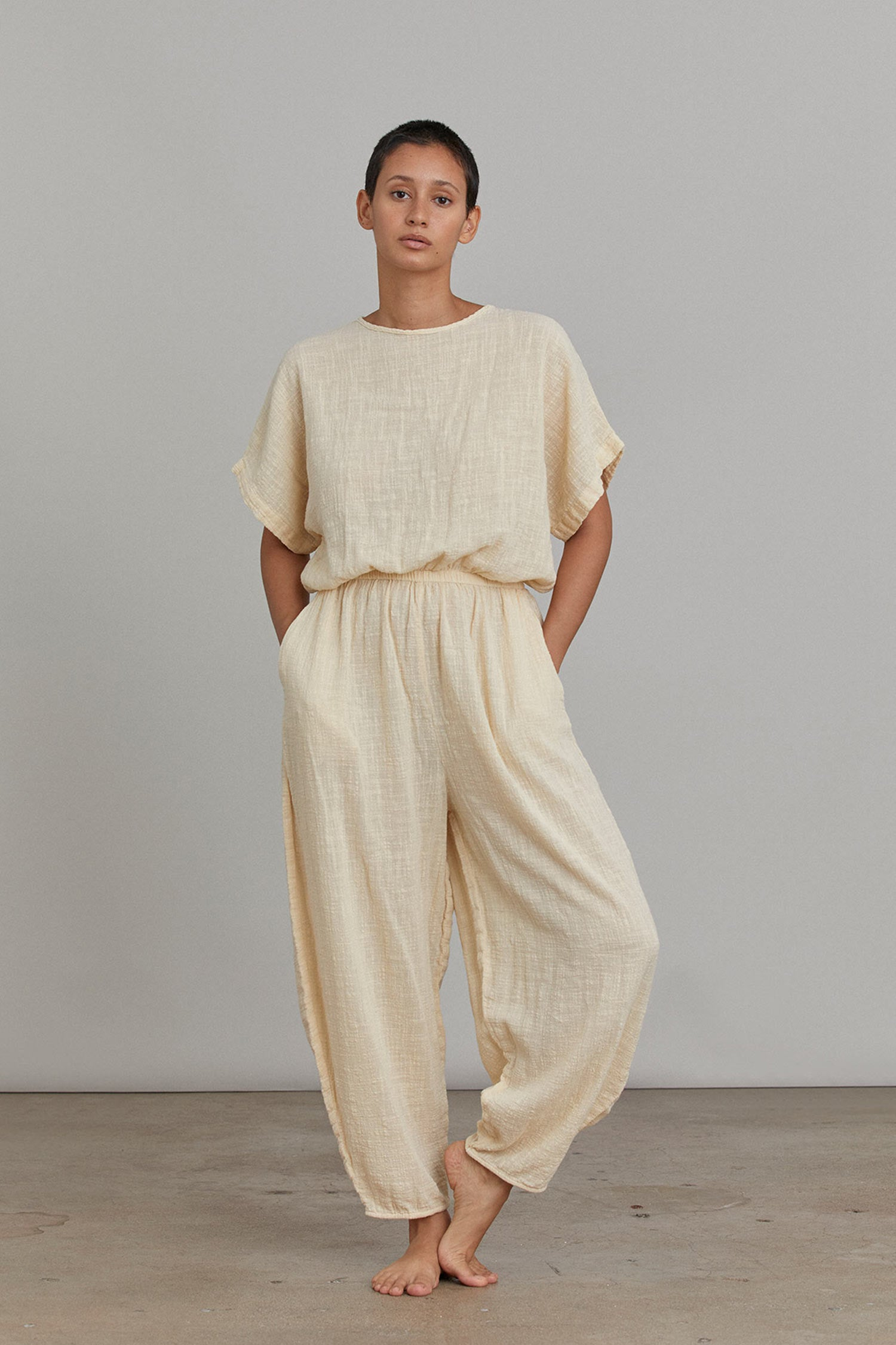 EASY JUMPSUITS / VANILLA