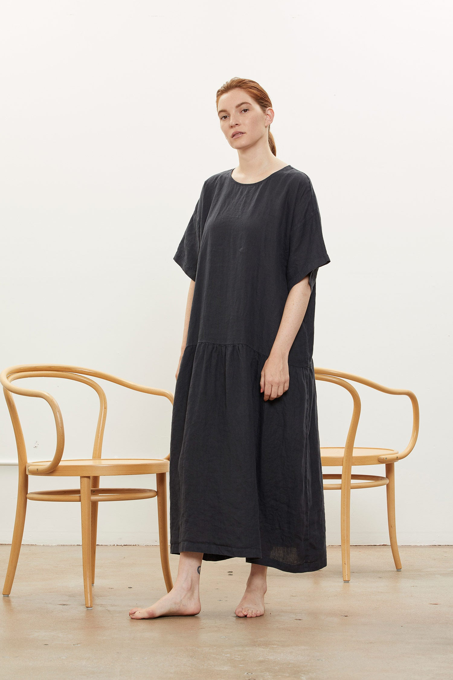 EASY TEE DRESS / L-ED05 / FADED BLACK