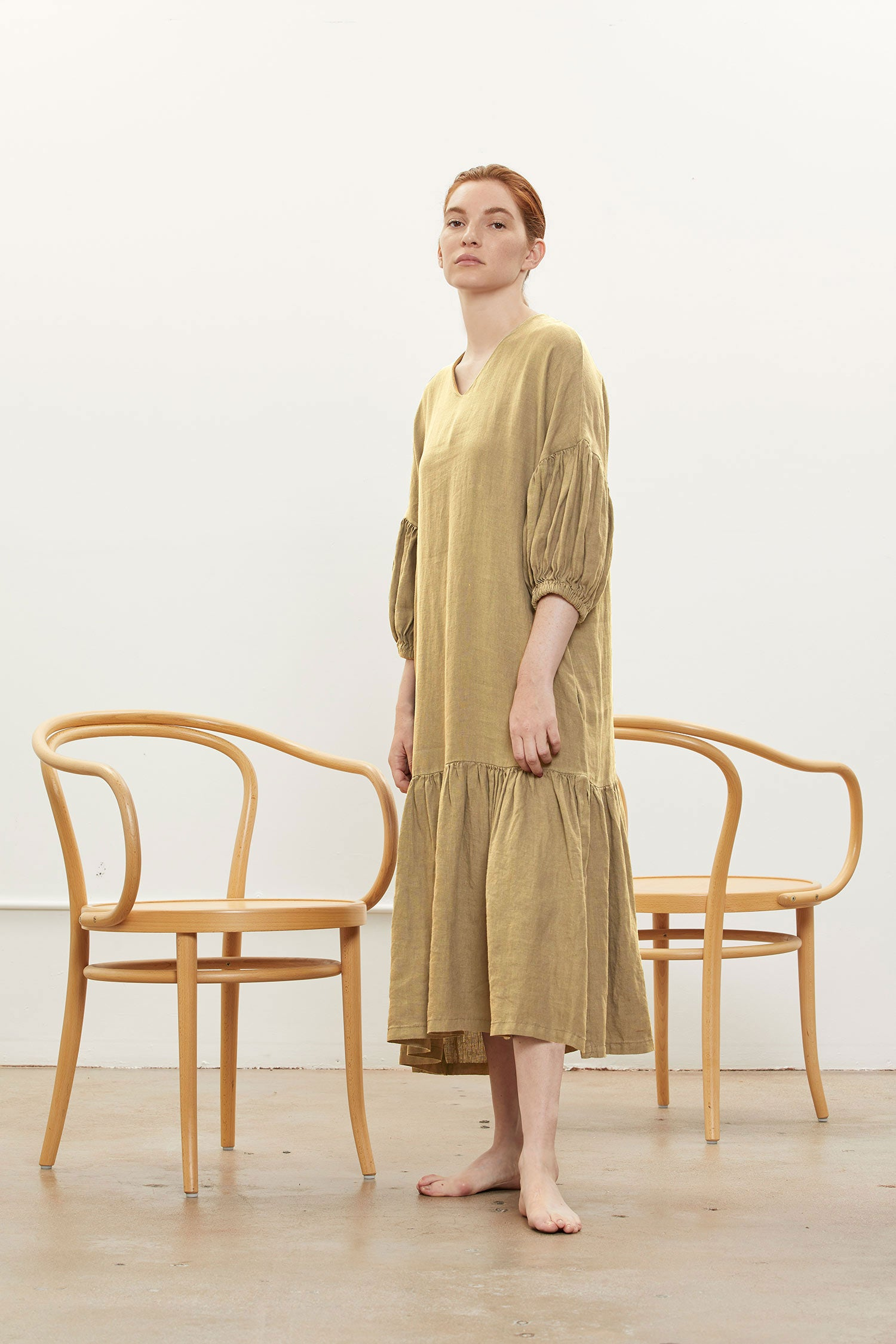 PUFF DRESS / L-PFD07 / TAN