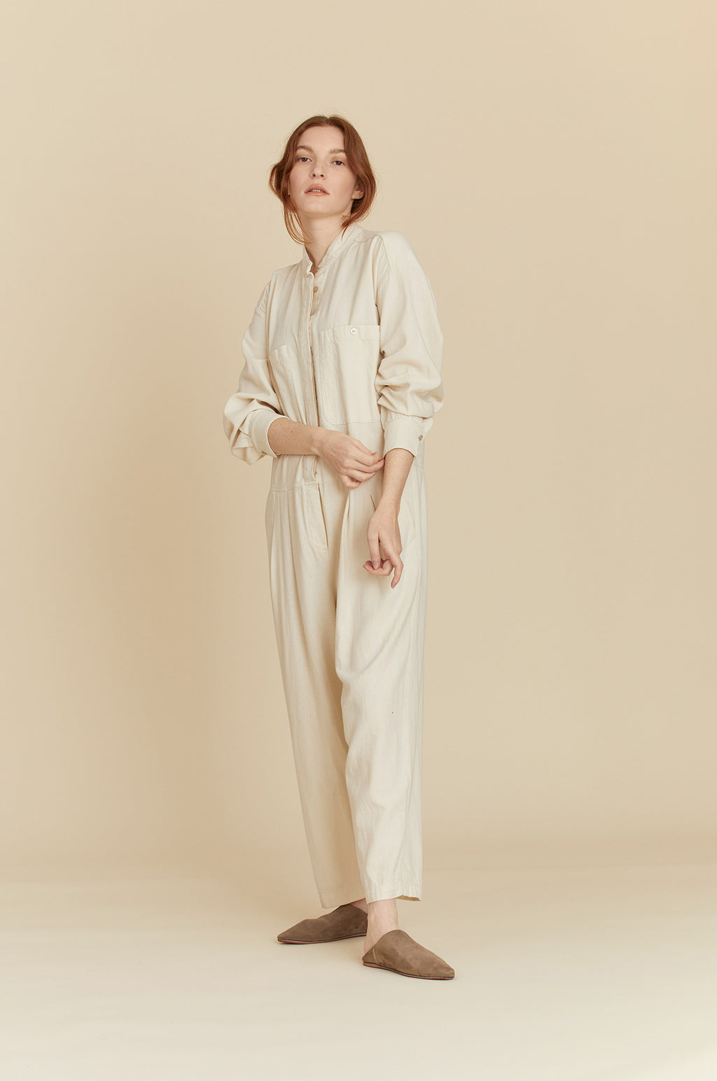 CARPENTER JUMPSUIT / LF-CJ19 / CREAM