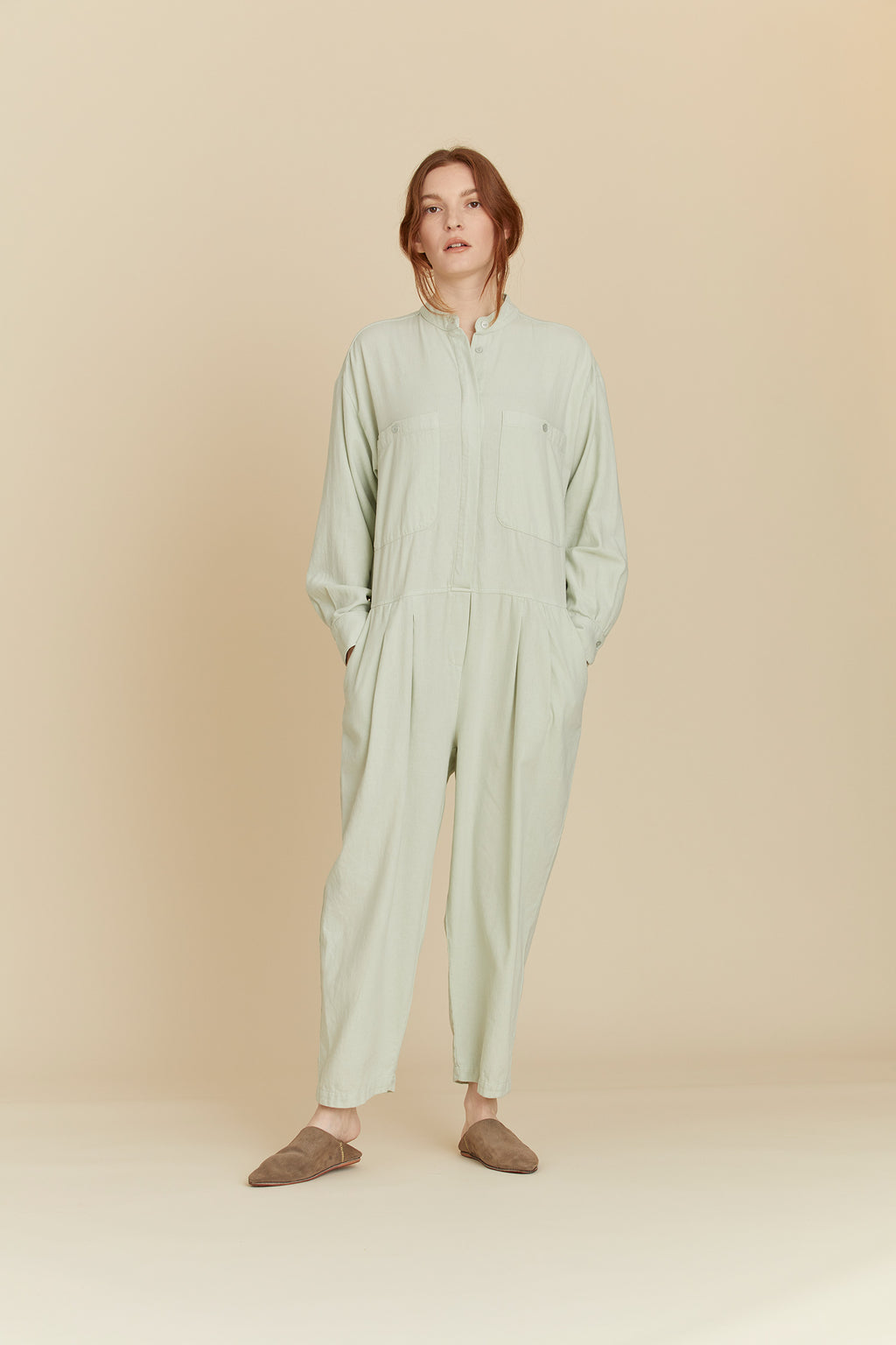 CARPENTER JUMPSUIT / LF-CJ19 / SAGE