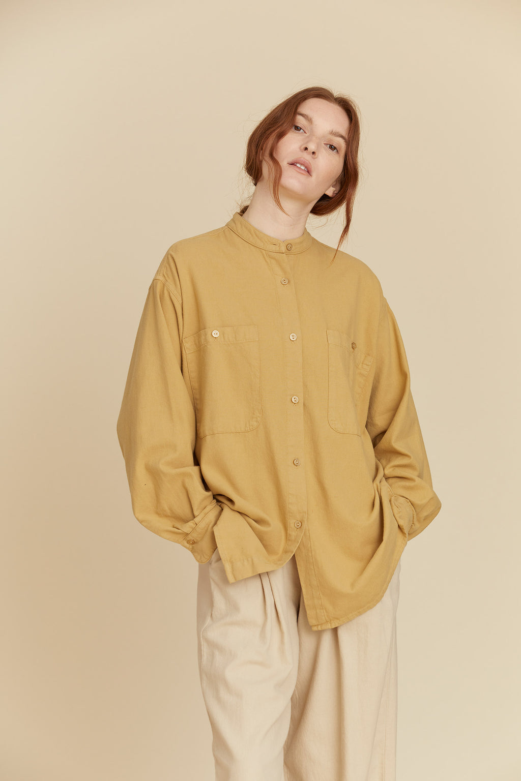 MECA SHIRTS / LF-MS09 / TAN