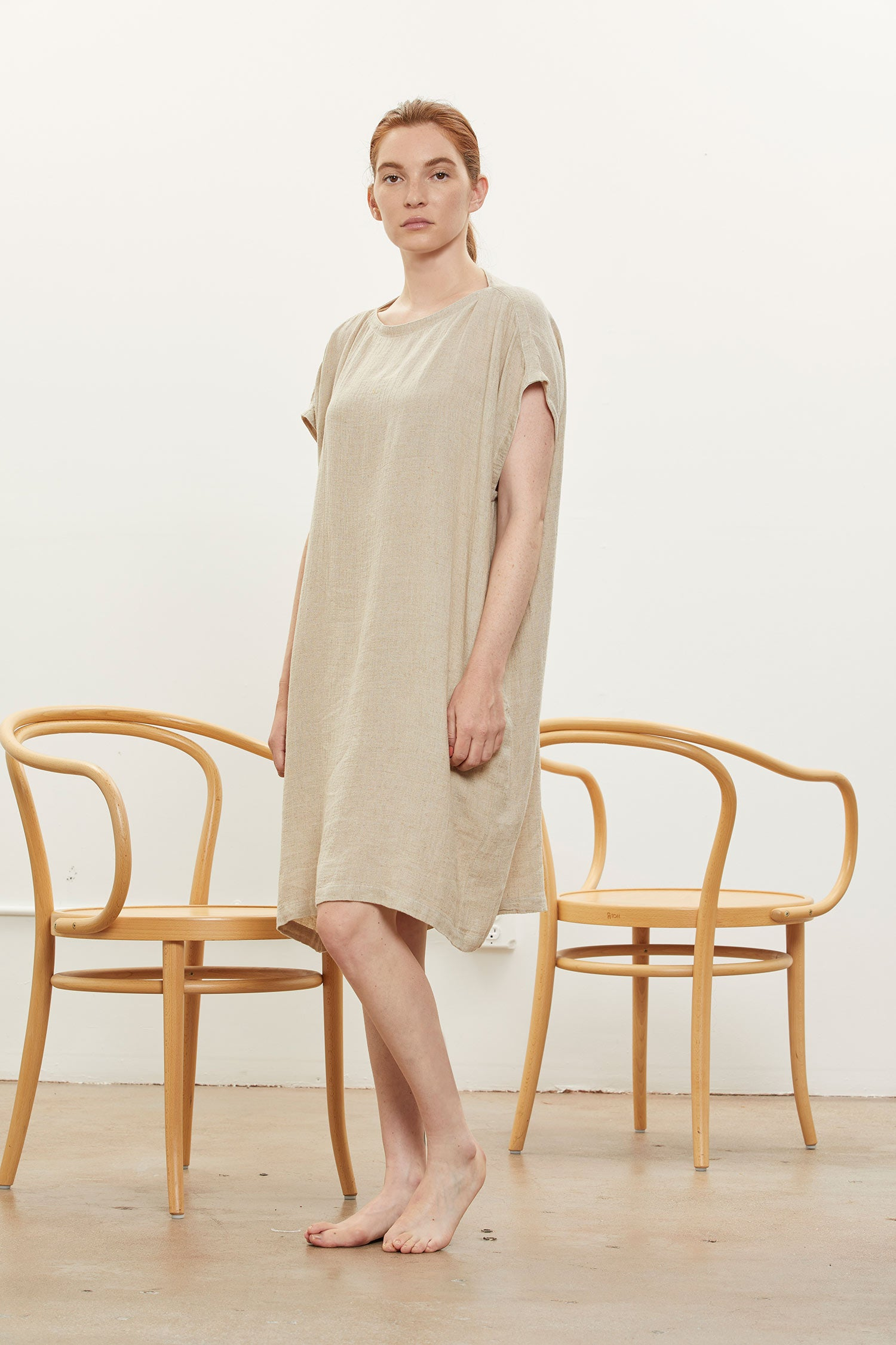BOX DRESS / RL-BD22 / NATURAL