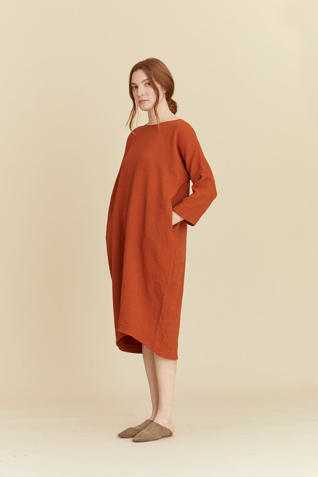 BUD DRESS / SQ-BD06 / BRICK