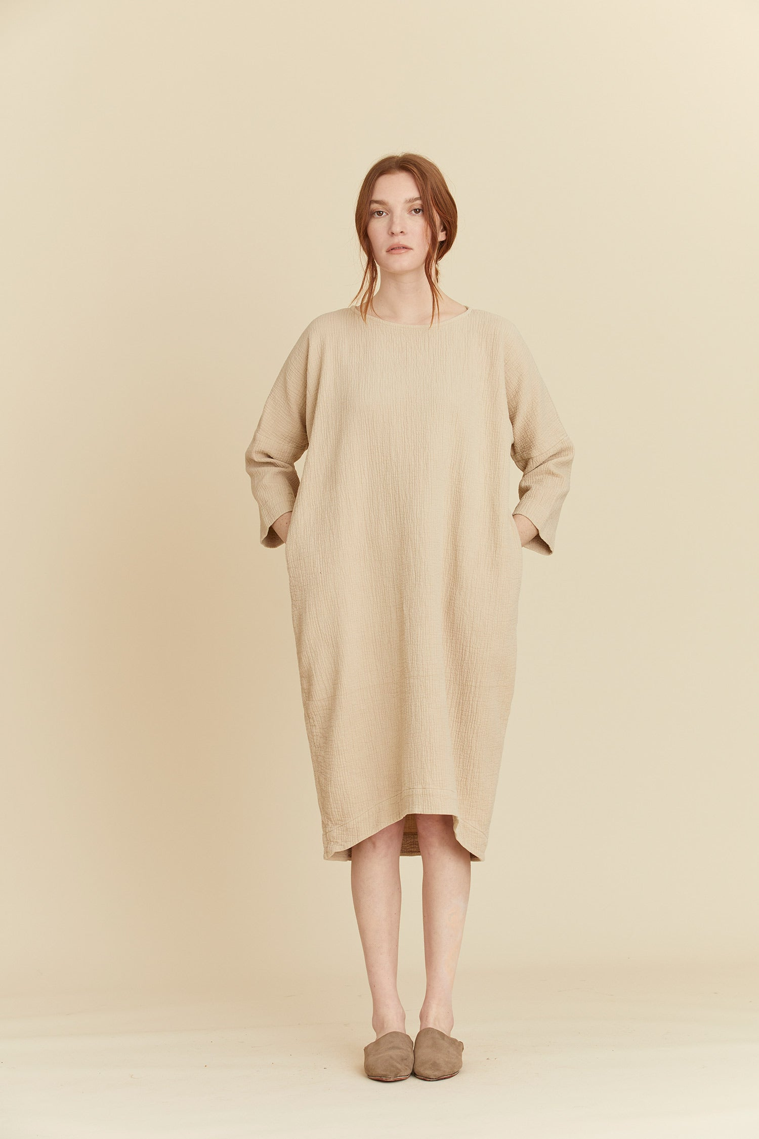 BUD DRESS / SQ-BD06 / NATURAL