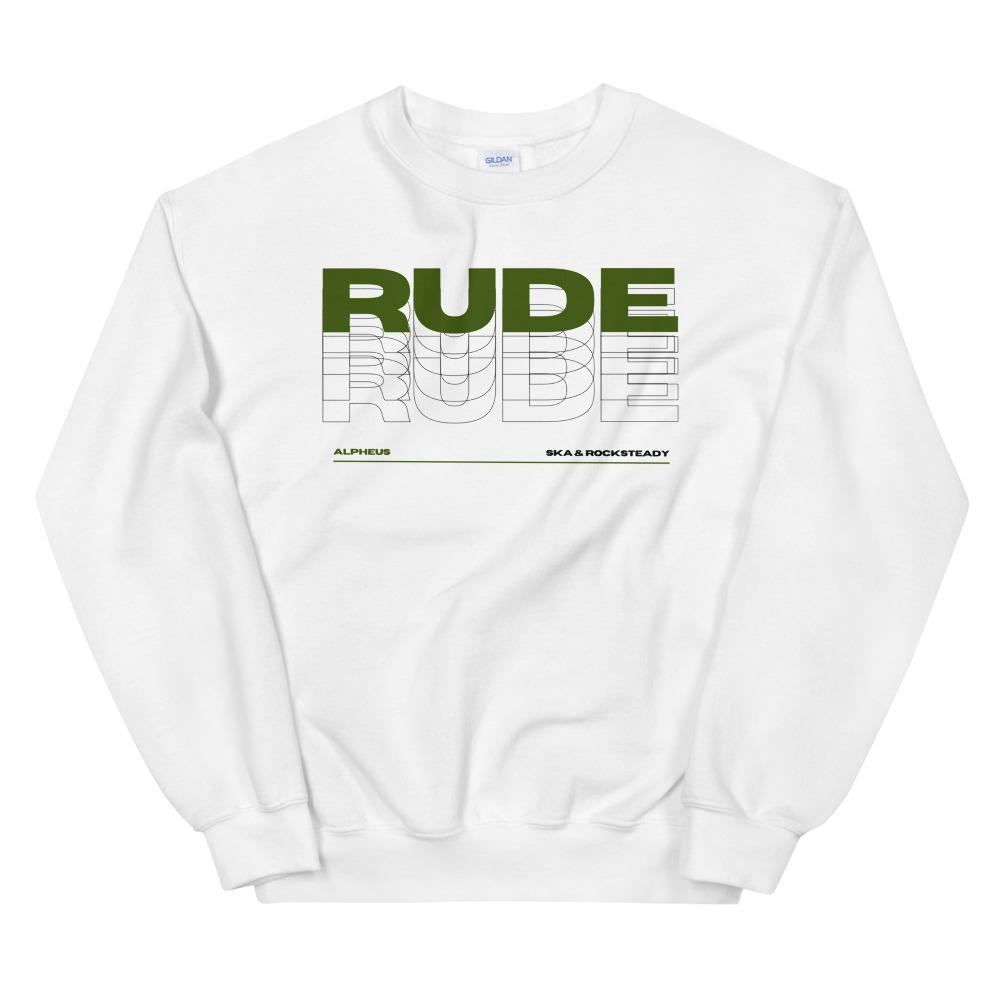 Alpheus 'Rude' Unisex Dark Green Crew Neck Sweatshirt