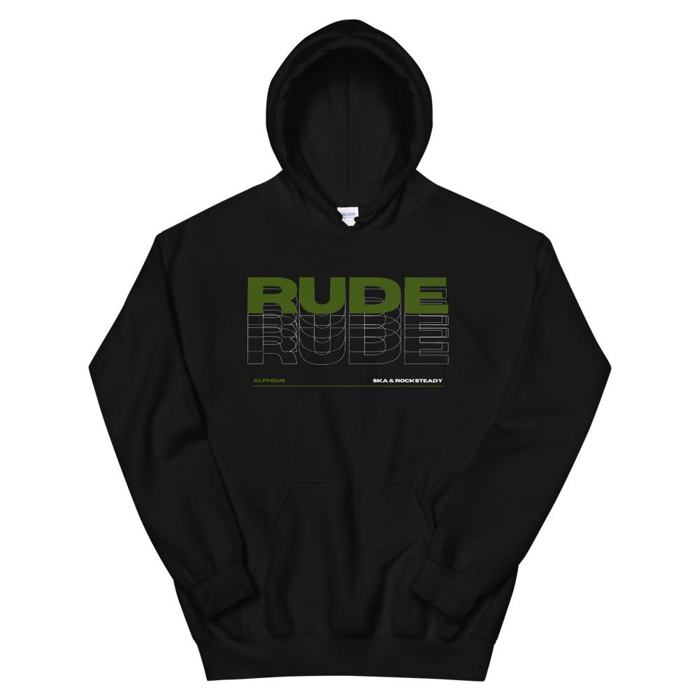 Alpheus 'Rude' Unisex Dark Green Hoodies
