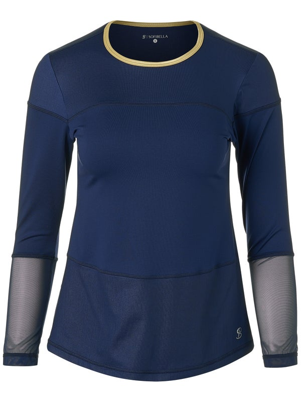 SofiBella Navy Gold Long Sleeve Shirt