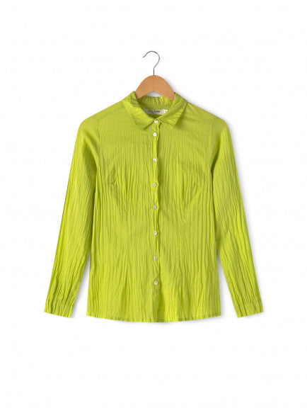 NICE THINGS PALOMAS - DRESS SHIRT LIME - Shop Solee Shoes
