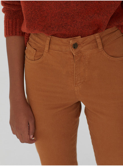 NICE THINGS PALOMA - TWILL TROUSERS OCHRE