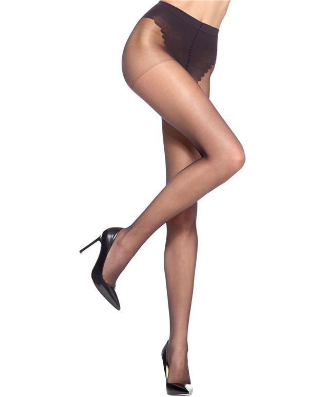 HUE - PANTYHOSE BLACK FRENCH LACE - Shop Solee Shoes